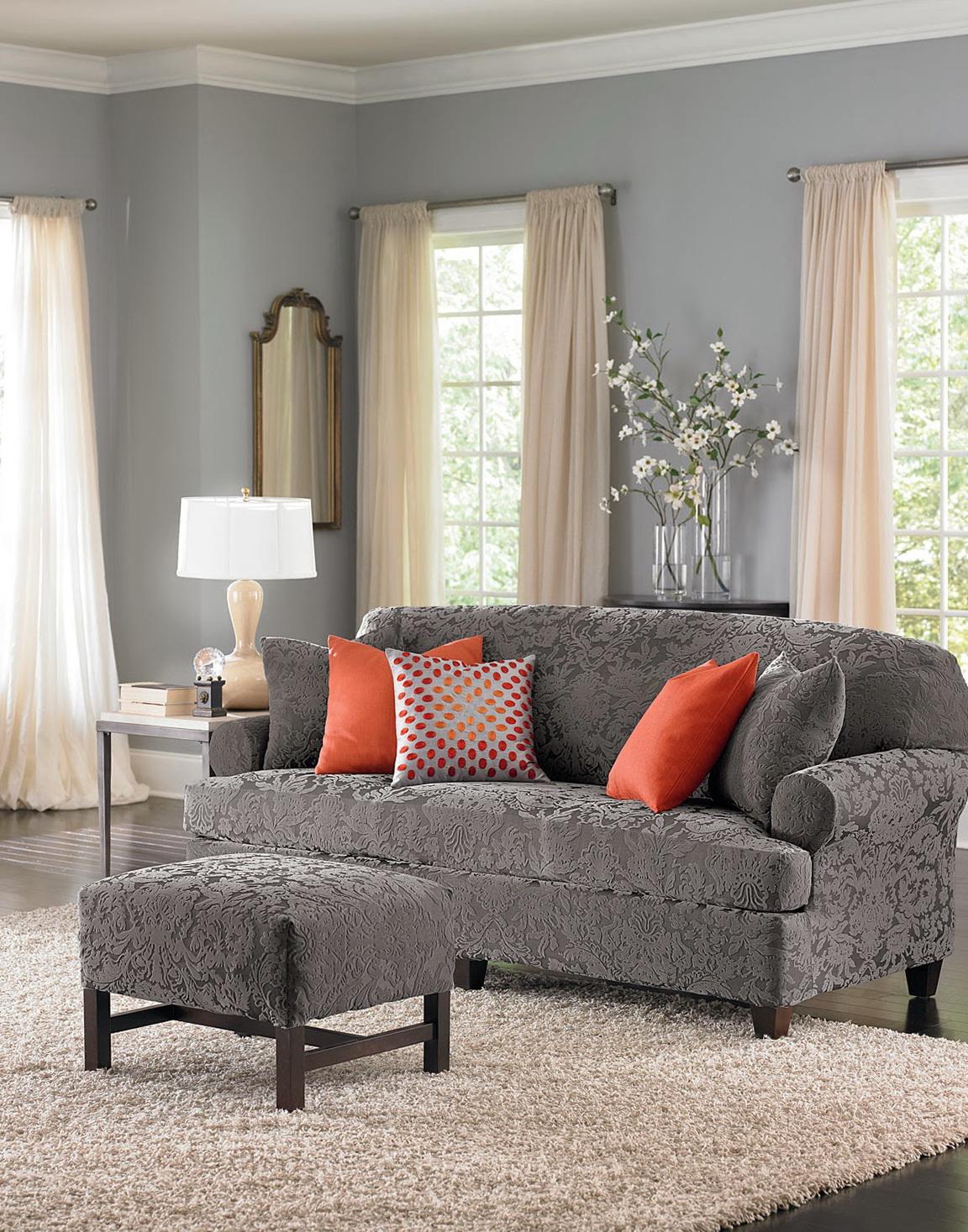 3 Piece T Cushion Sofa Slipcover