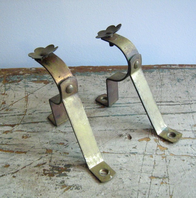Antique Brass Curtain Rod Brackets
