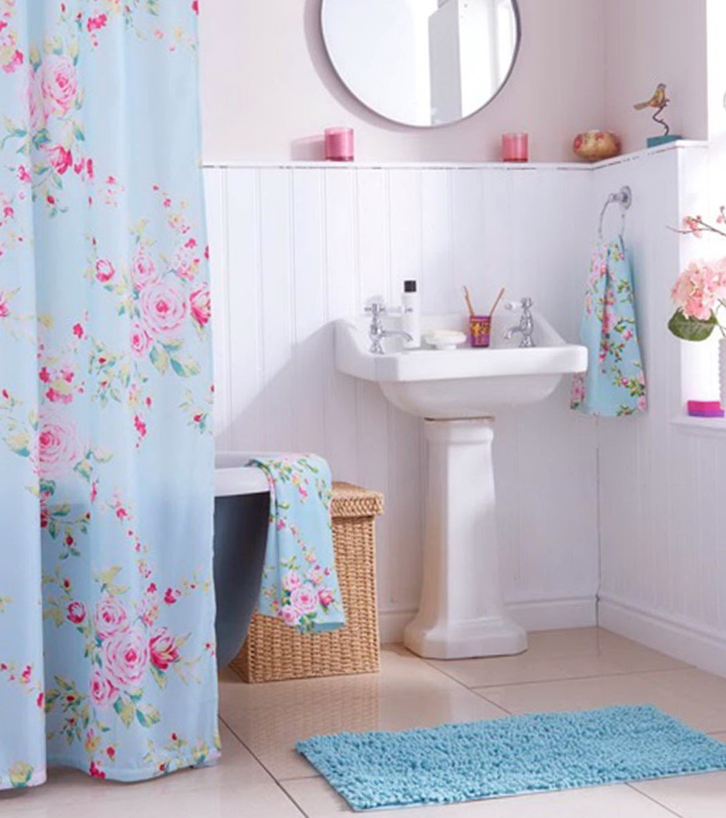 bathroom sets with shower curtain and rugs with purple. brown blue ...