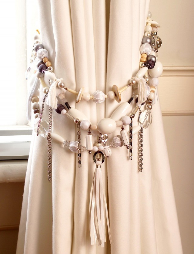 Beaded Tiebacks For Curtains