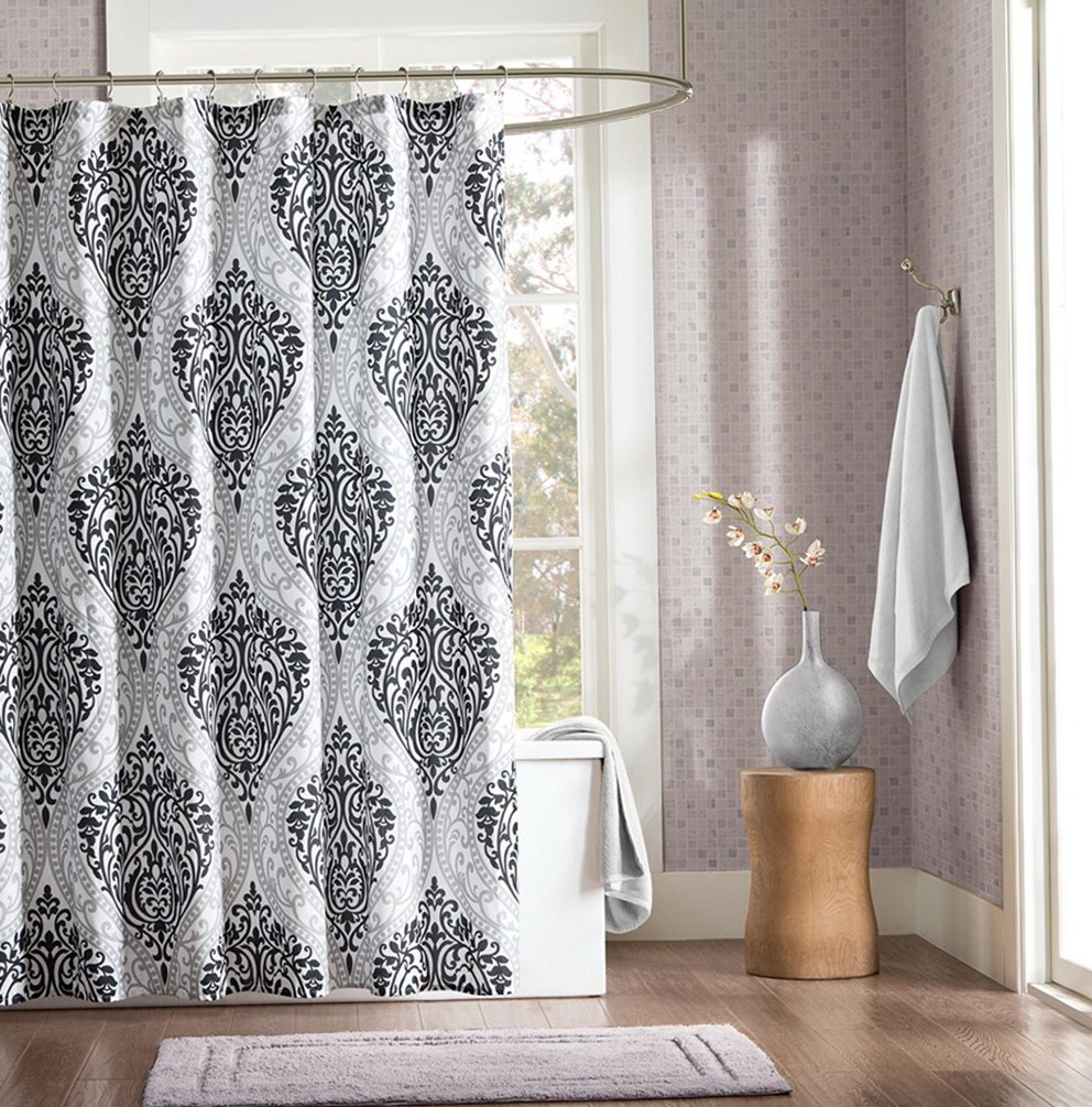 Black And Grey Shower Curtains
