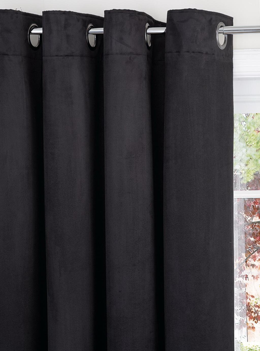 Black Blackout Curtains 66 X 90