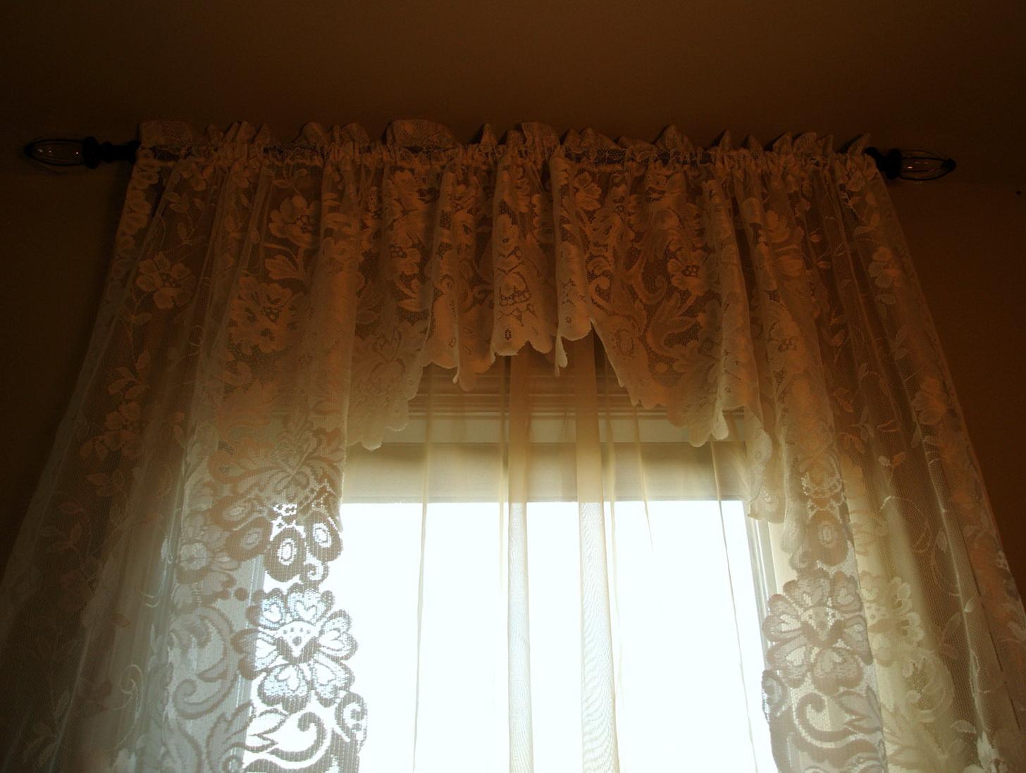 Black Lace Curtains Vintage