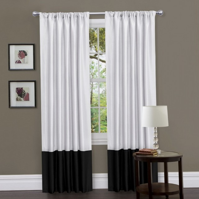 Black White Curtains Living Room