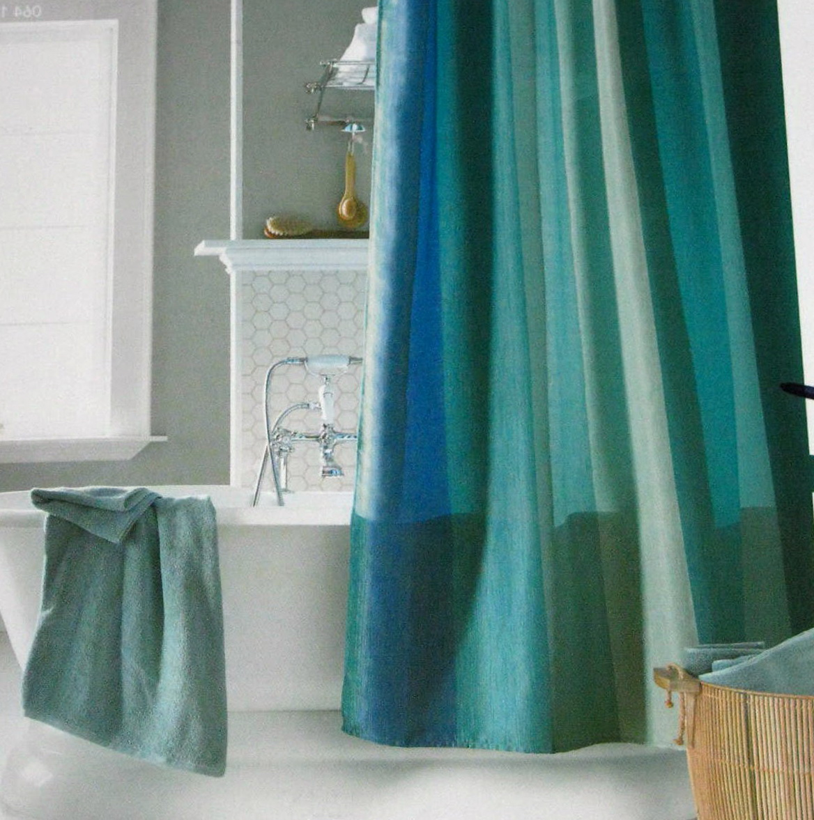 Blue And Green Shower Curtains Home Design Ideas