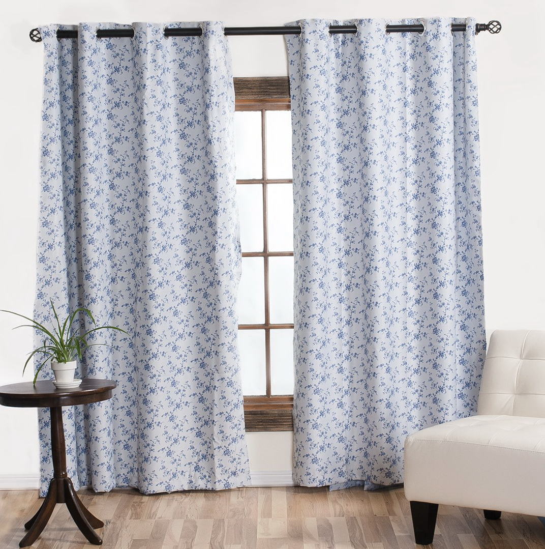 Blue Floral Curtains Sale Home Design Ideas