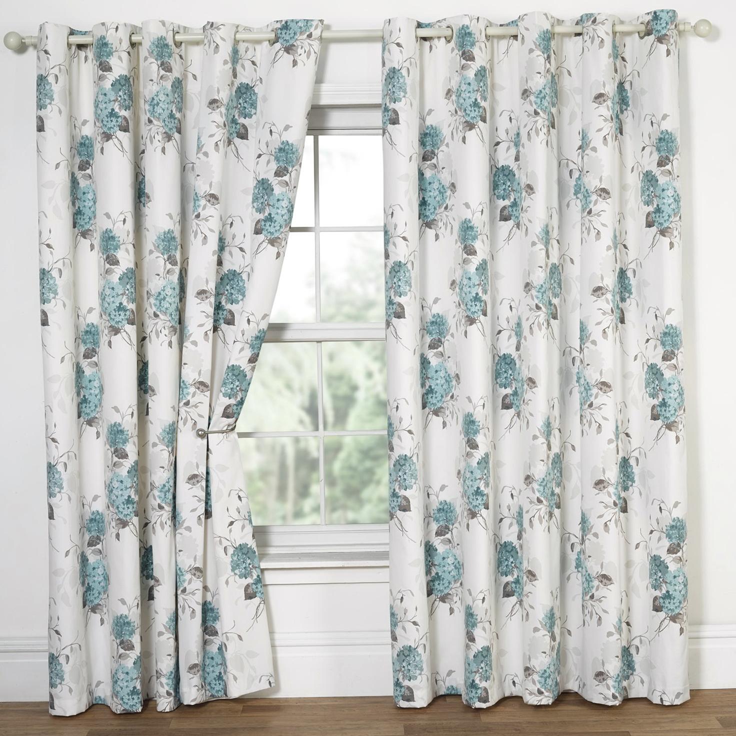 Blue Floral Curtains Uk Home Design Ideas
