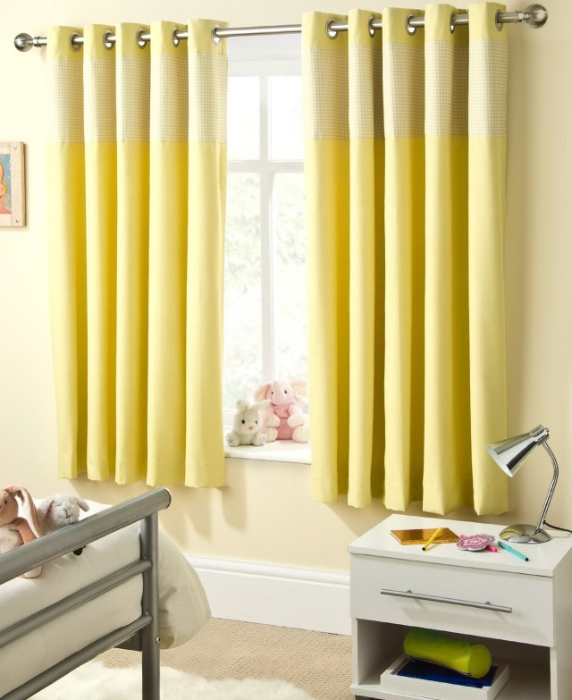Bright Yellow Curtains Uk