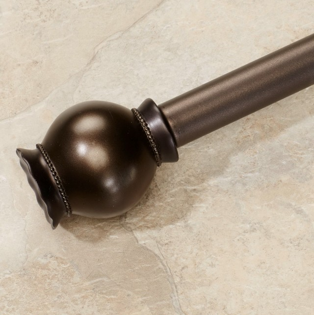 Bronze Curtain Rod Finials