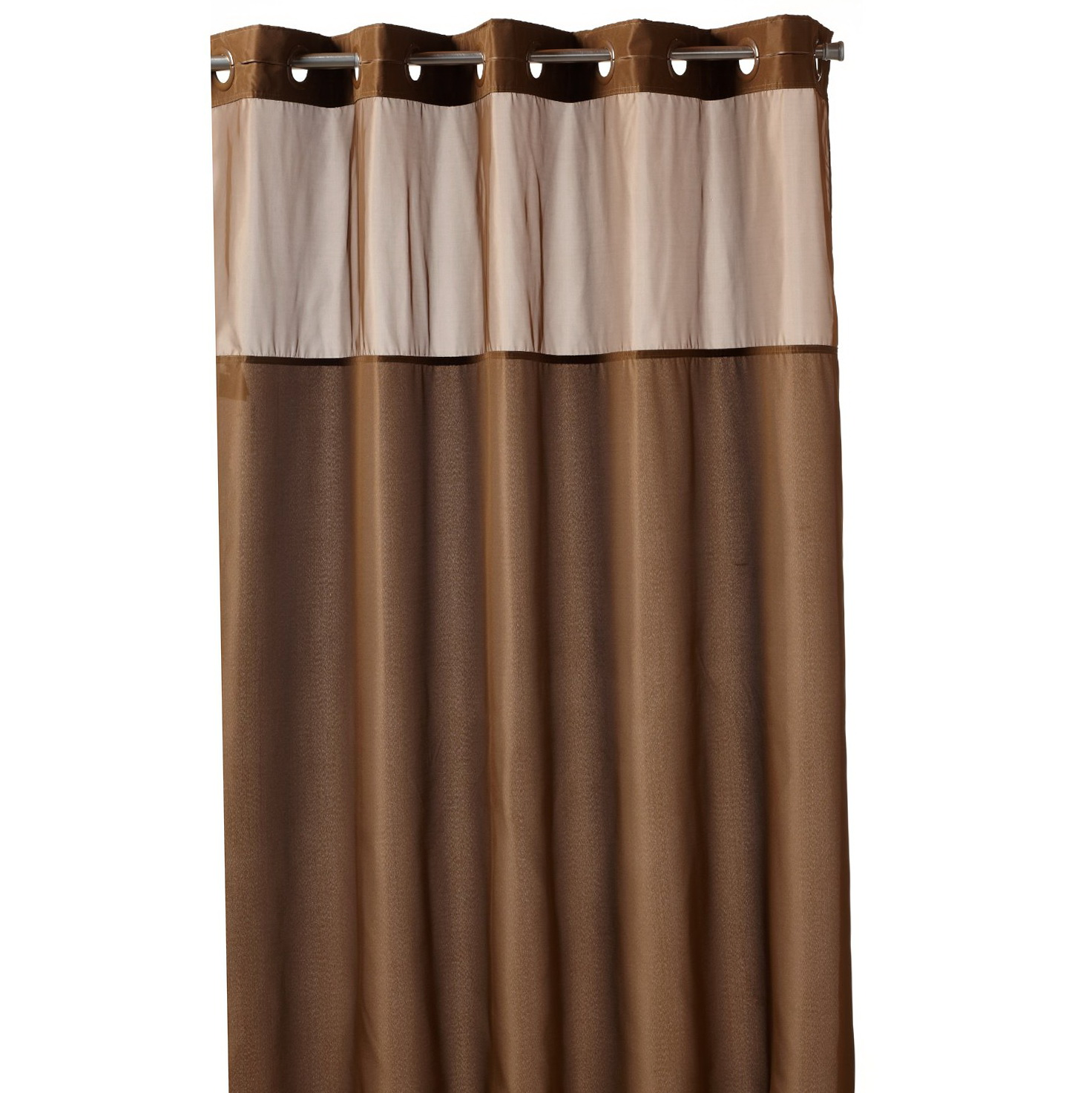 Fashion shower curtain by lush decor brown and pink for Red and brown bathroom sets