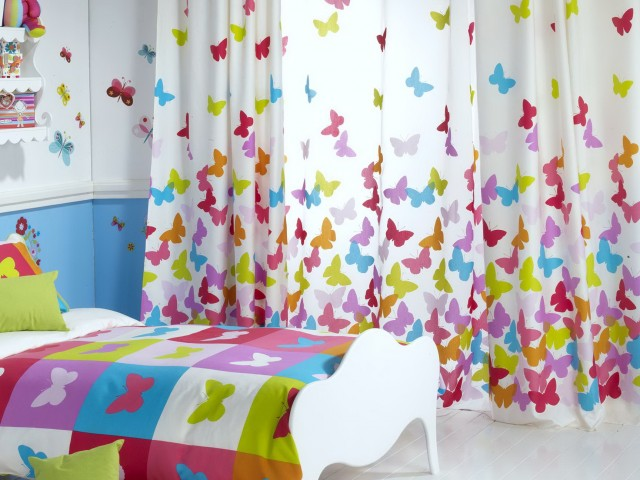 Butterfly Curtains For Kids