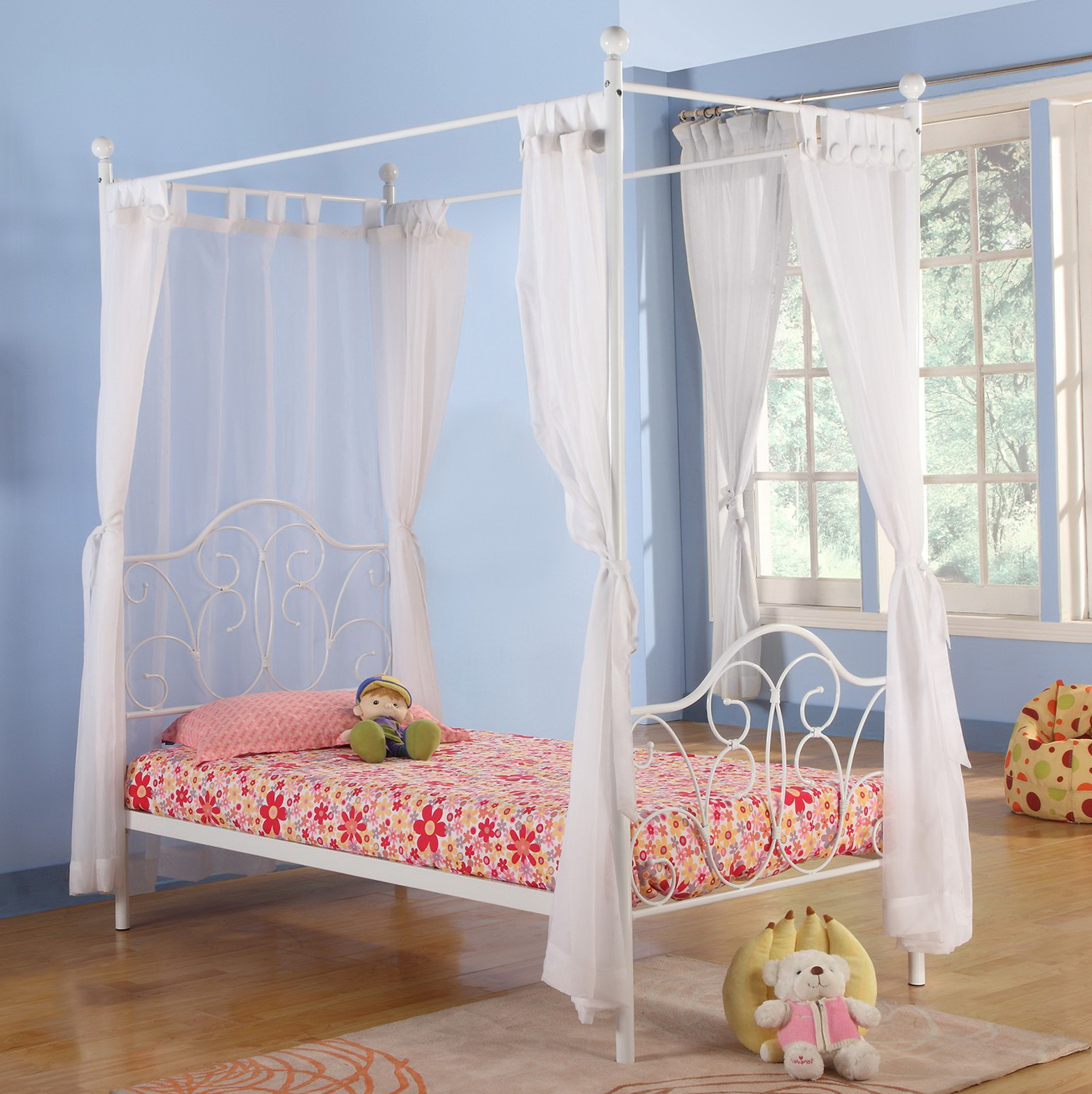 Canopy Bed Curtains For Kids Home Design Ideas