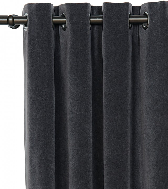 Charcoal Grey Velvet Curtains