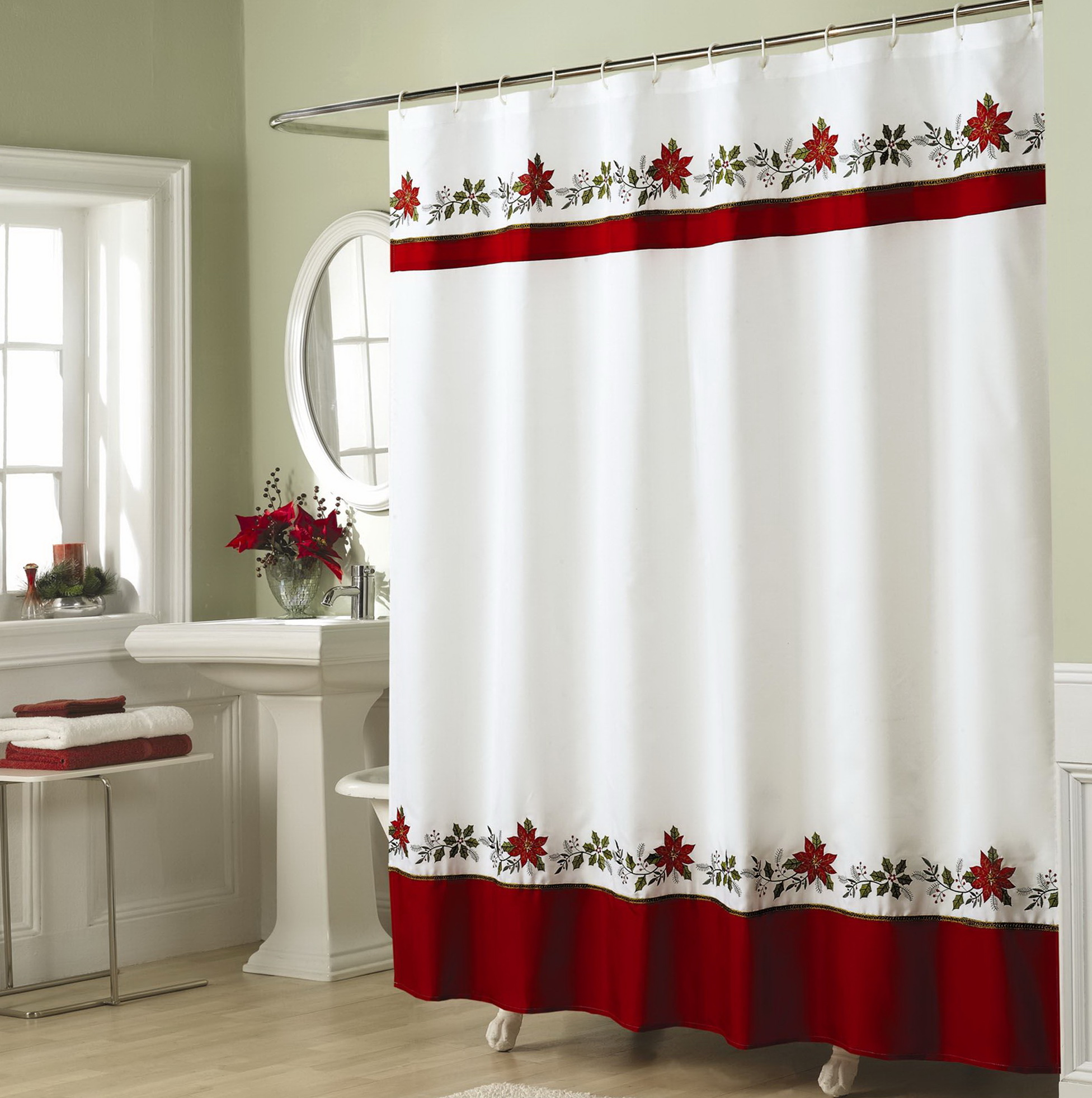 cheap christmas shower curtains home design ideas. Black Bedroom Furniture Sets. Home Design Ideas