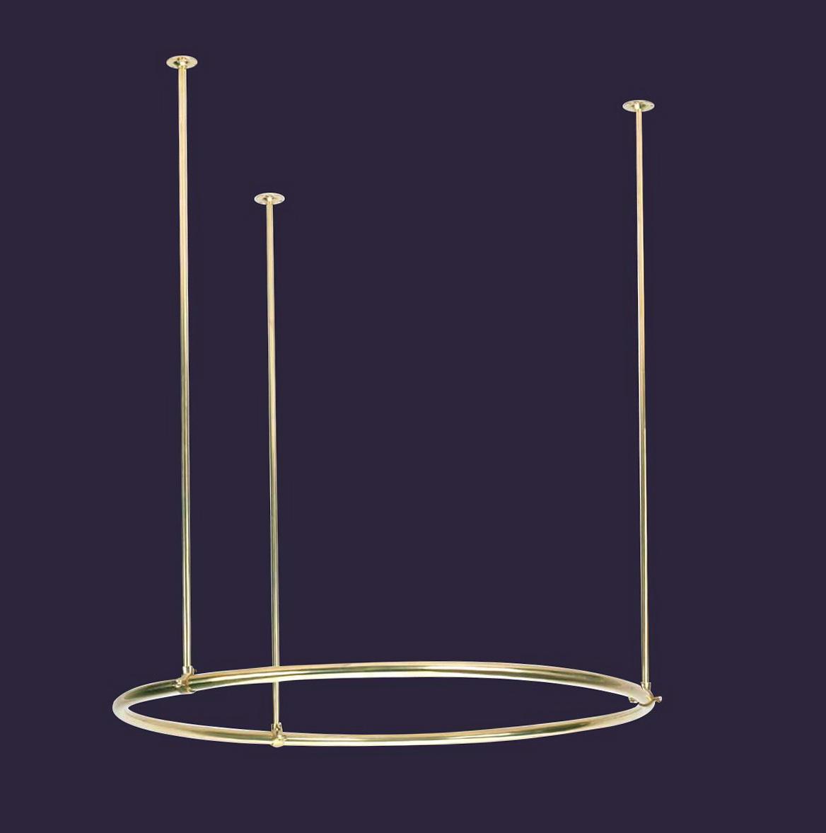 Circular Shower Curtain Rod For Clawfoot Tub