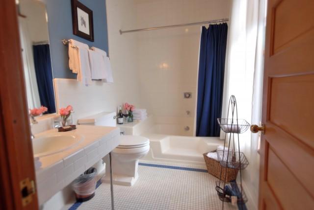 Clean Shower Curtain In Tub