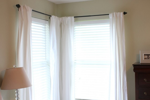 Corner Window Curtain Rods Home Depot