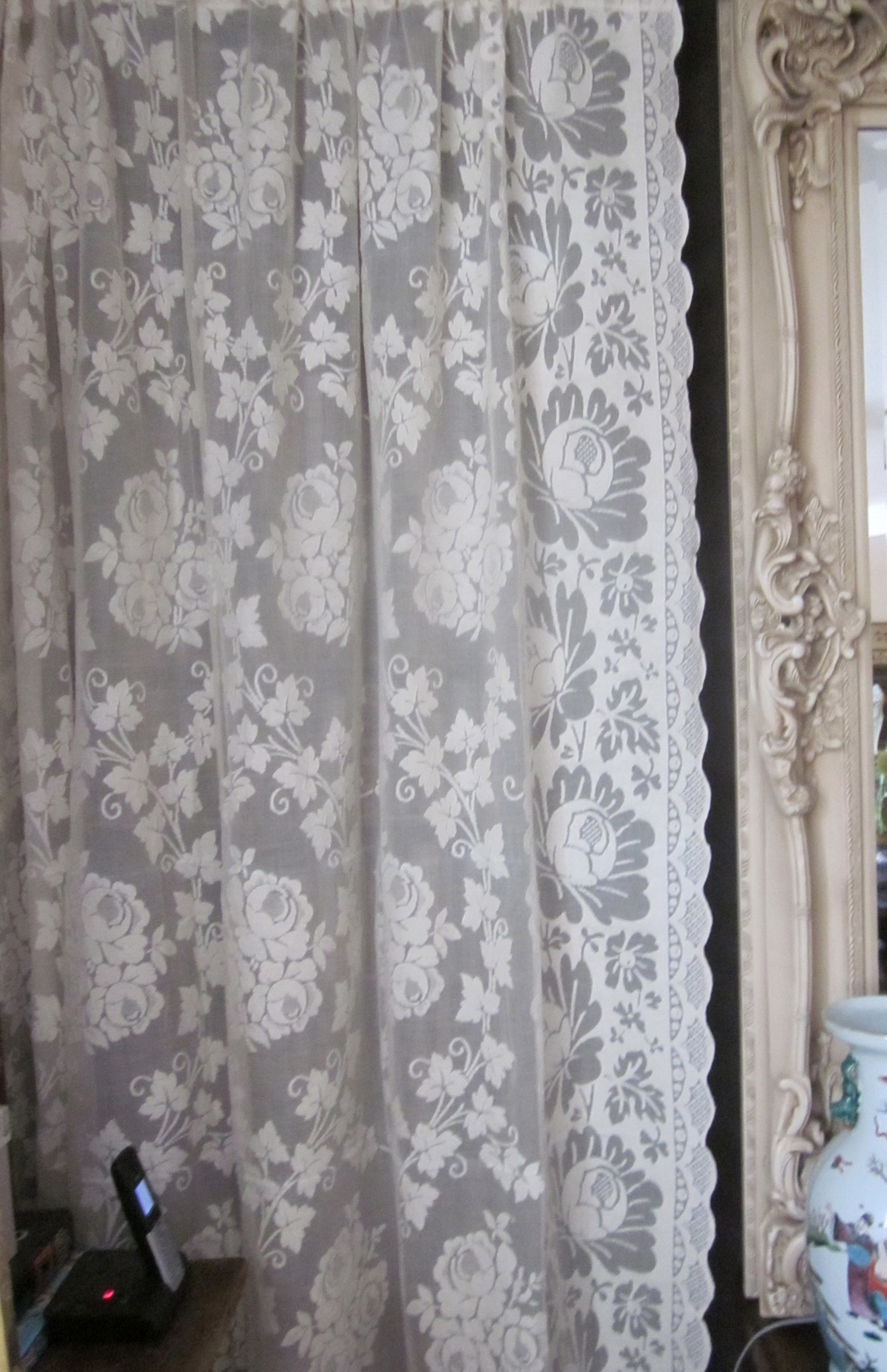 Cotton Lace Curtains Panels Home Design Ideas