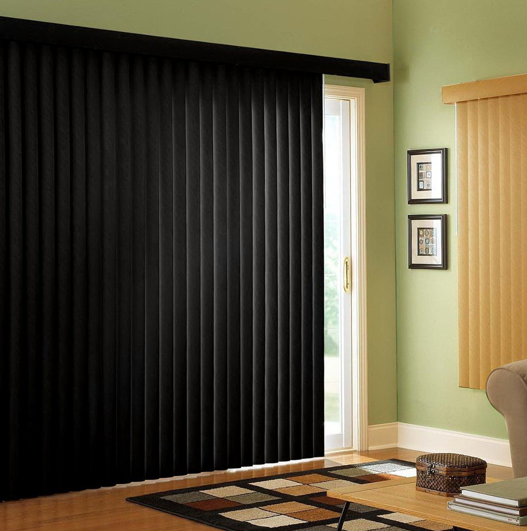Curtains Over Vertical Blinds Sliding Glass Doors Home