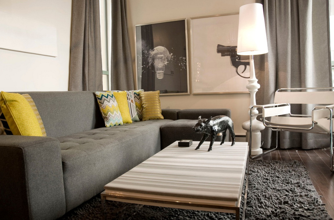 What Color Curtains Go With Dark Grey Sofa
