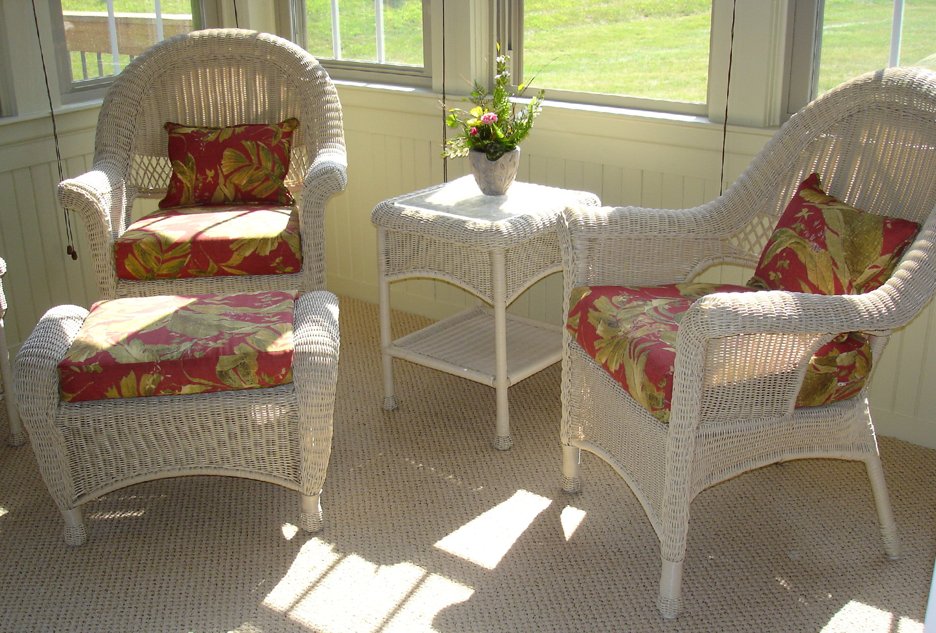 Cushions for wicker furniture cheap home design ideas for Cheap wicker furniture