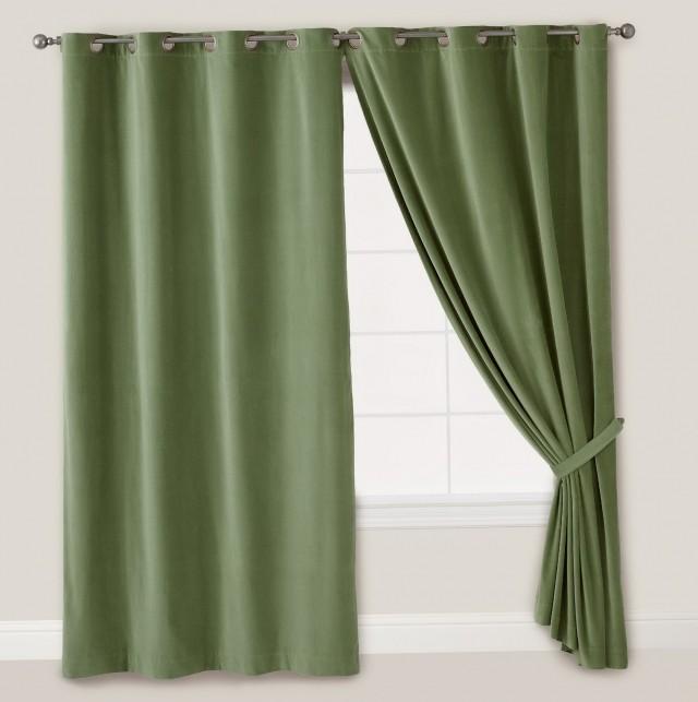 Dark Green Curtains Ready Made