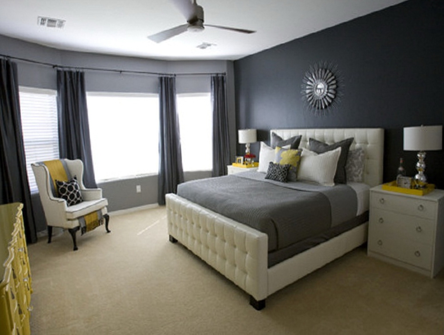 Dark Grey Curtains Bedroom