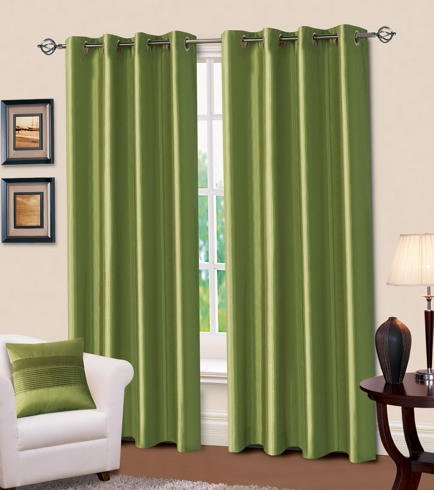 Dark Olive Green Curtains Home Design Ideas