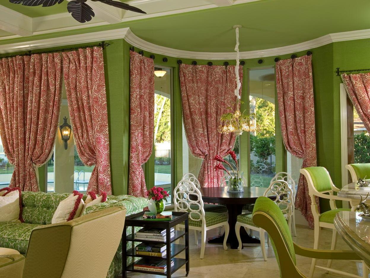 Dining Room Bay Window Curtain Ideas