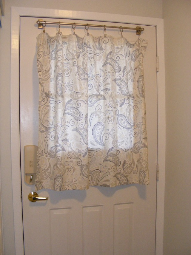 Door Panel Curtain Ideas