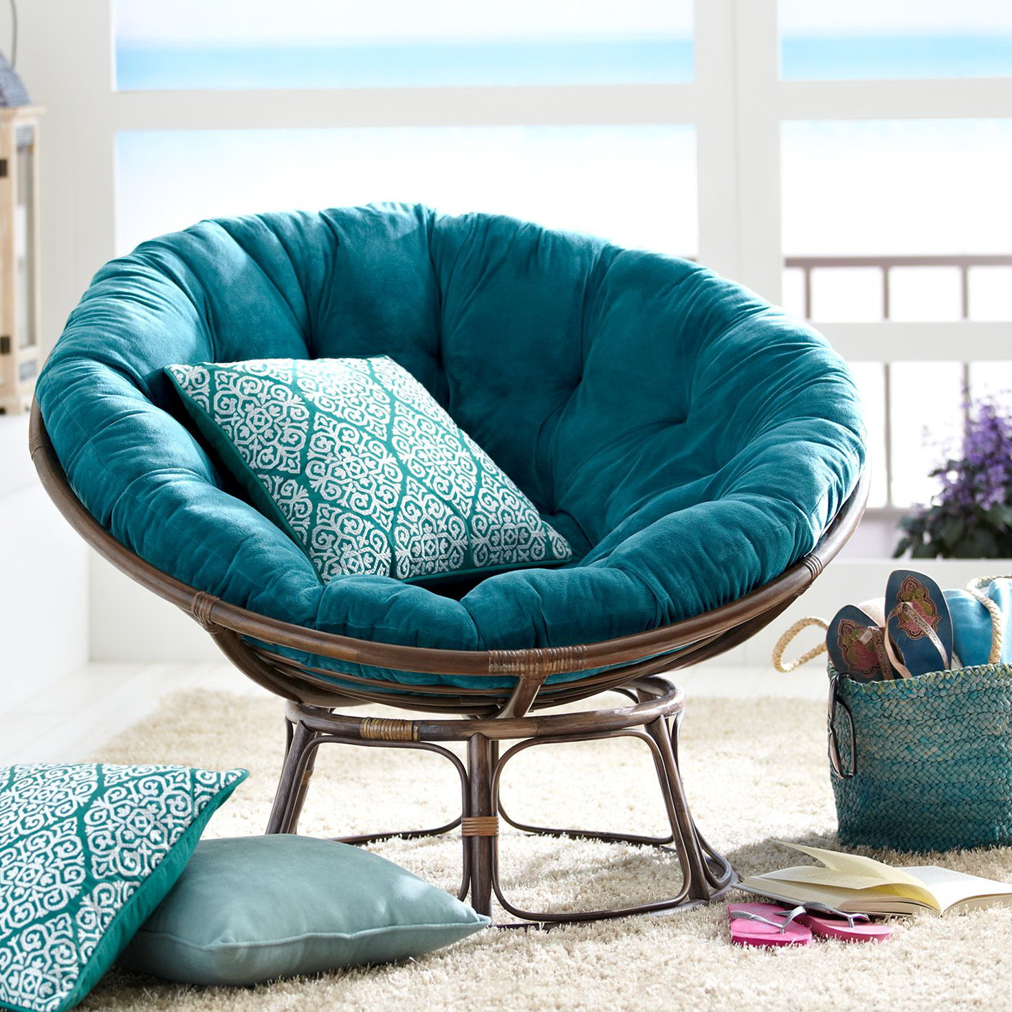 Double Papasan Cushion Pier 1 Home Design Ideas Stylish One Outdoor Seat