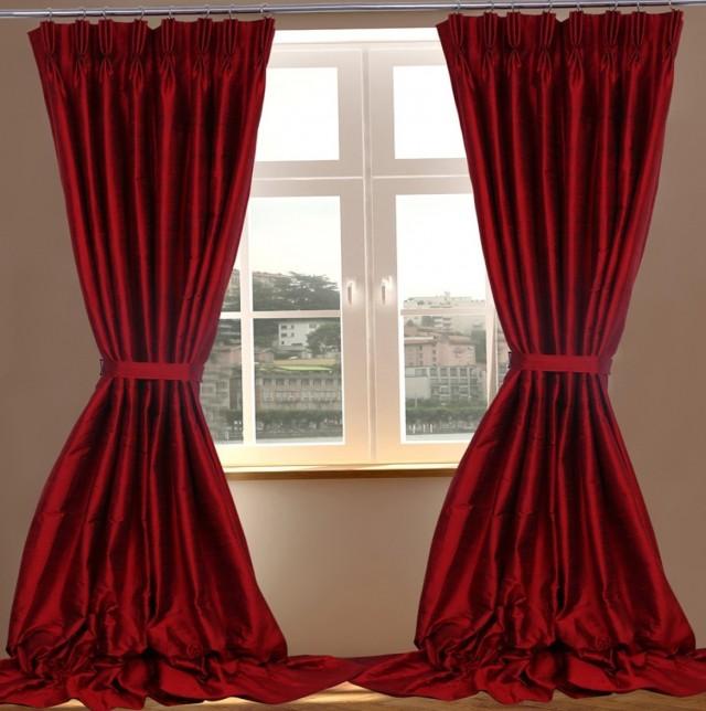 Dupioni Silk Curtain Panels