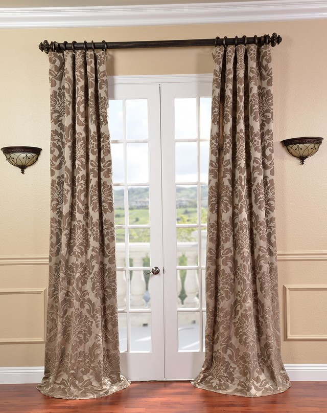 Faux Silk Curtain Panels