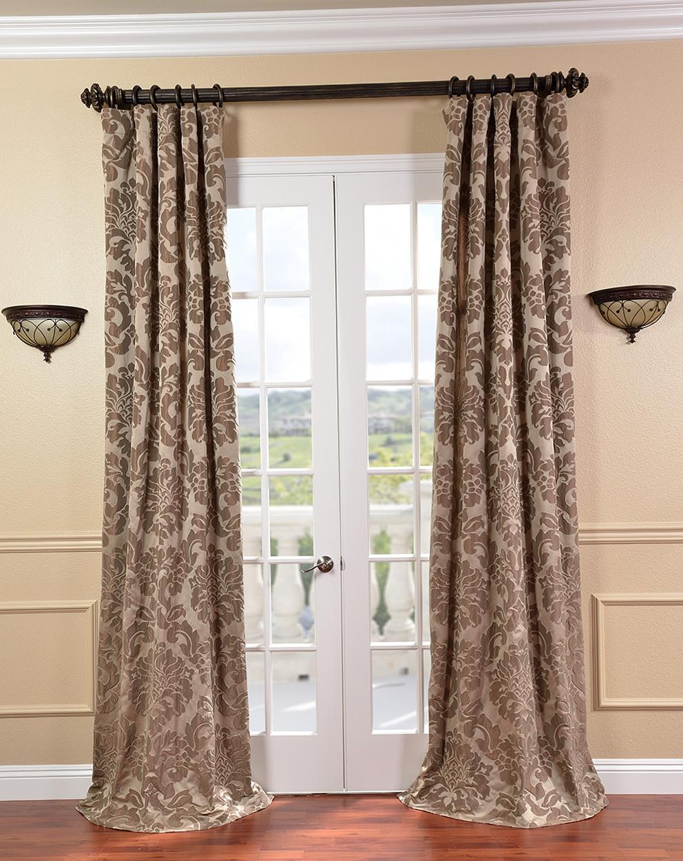 Faux Silk Curtain Panels
