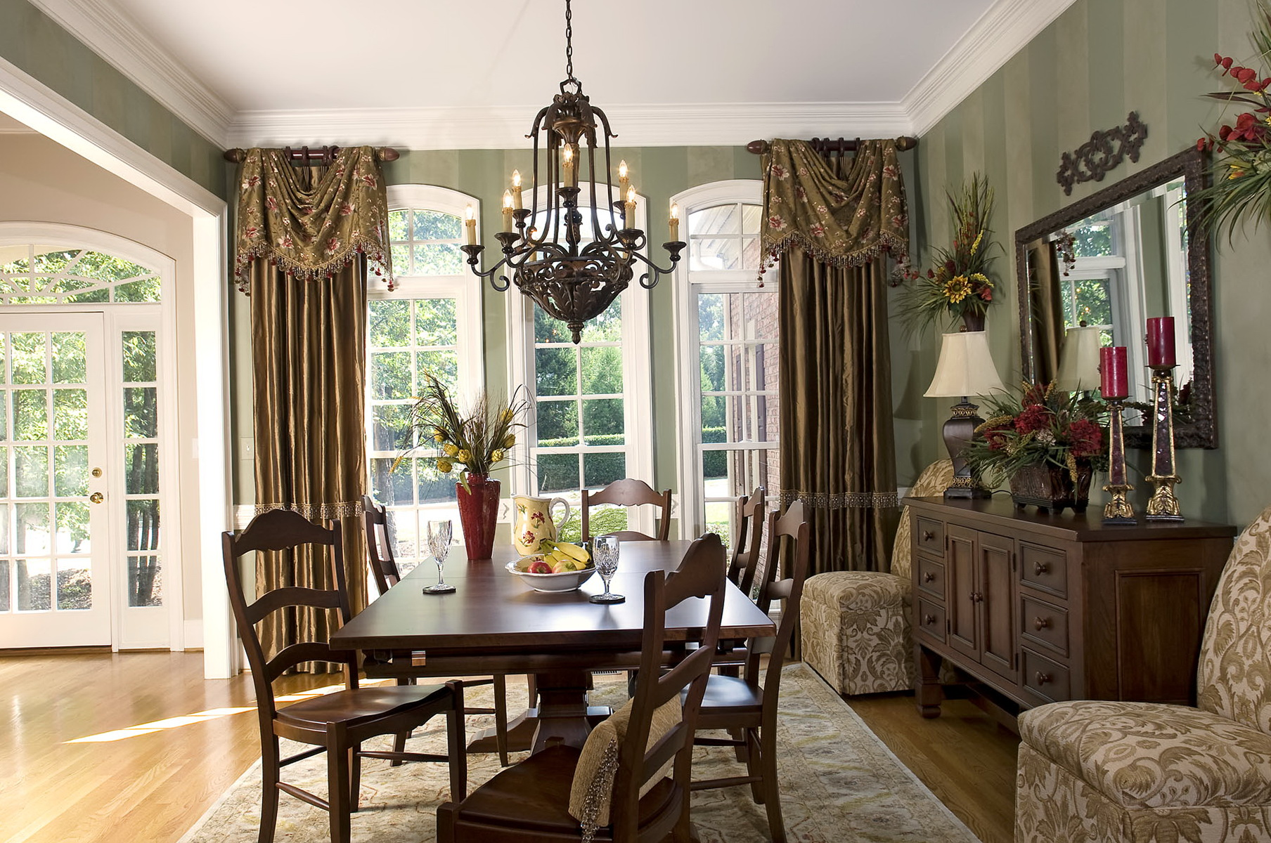 Dining Room Drapery Ideas Part - 21: Formal Dining Room Curtain Ideas