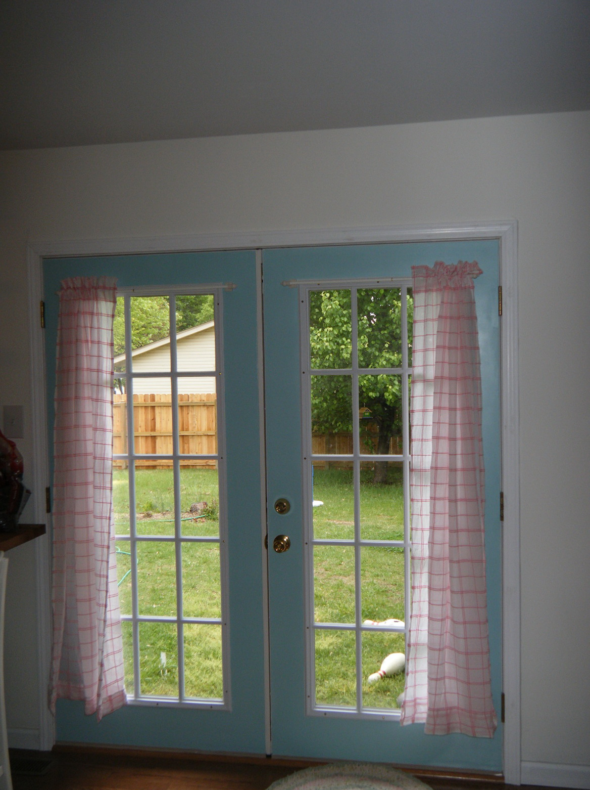 French Door Curtain Ideas Home Design Ideas