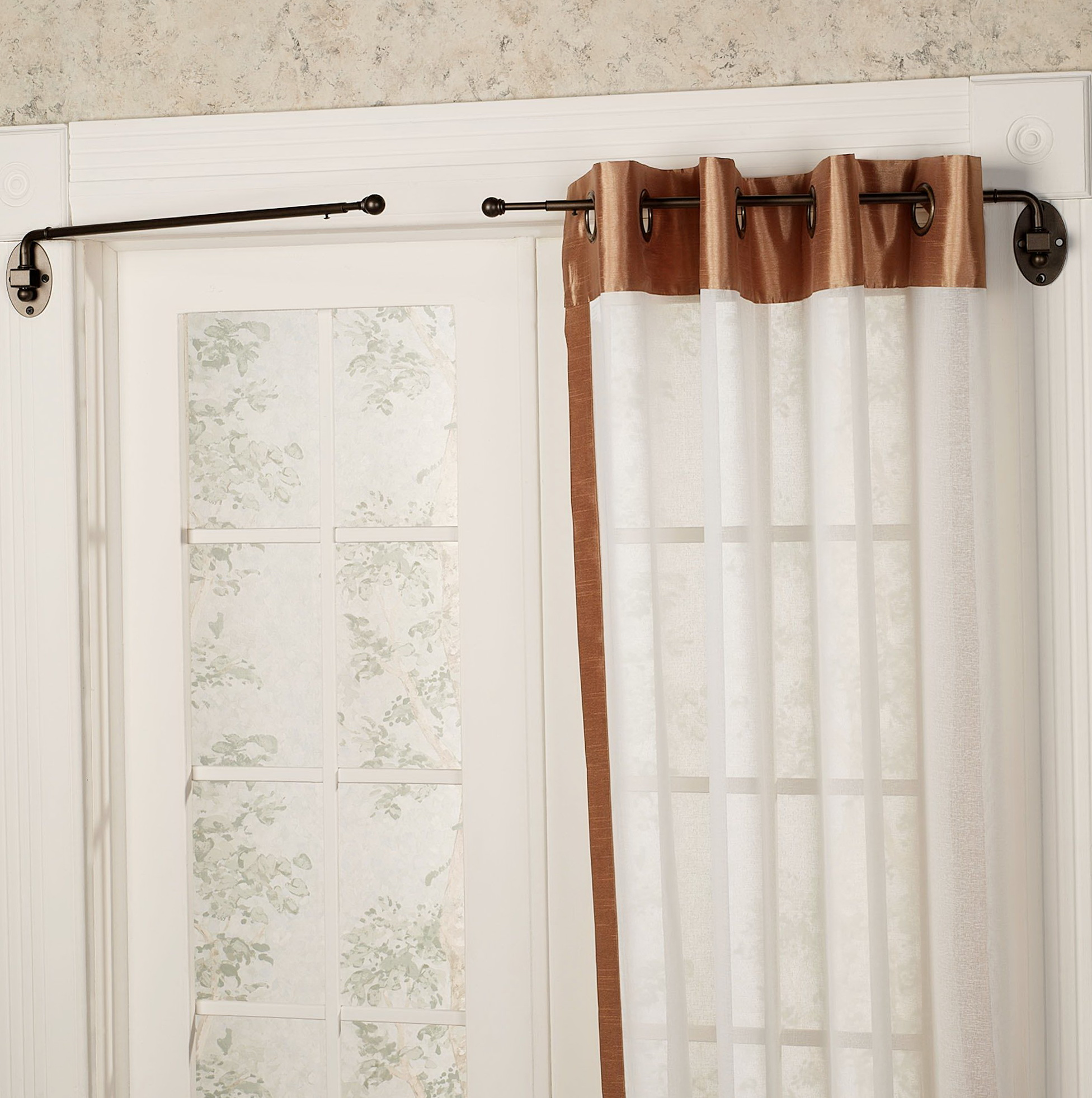 set walnut bold dp home com adjustable global source pole curtain inch kitchen amazon to rod