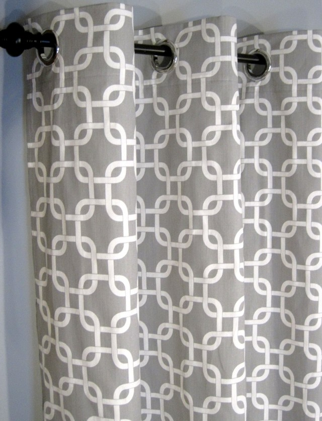 Gray And White Kitchen Curtains