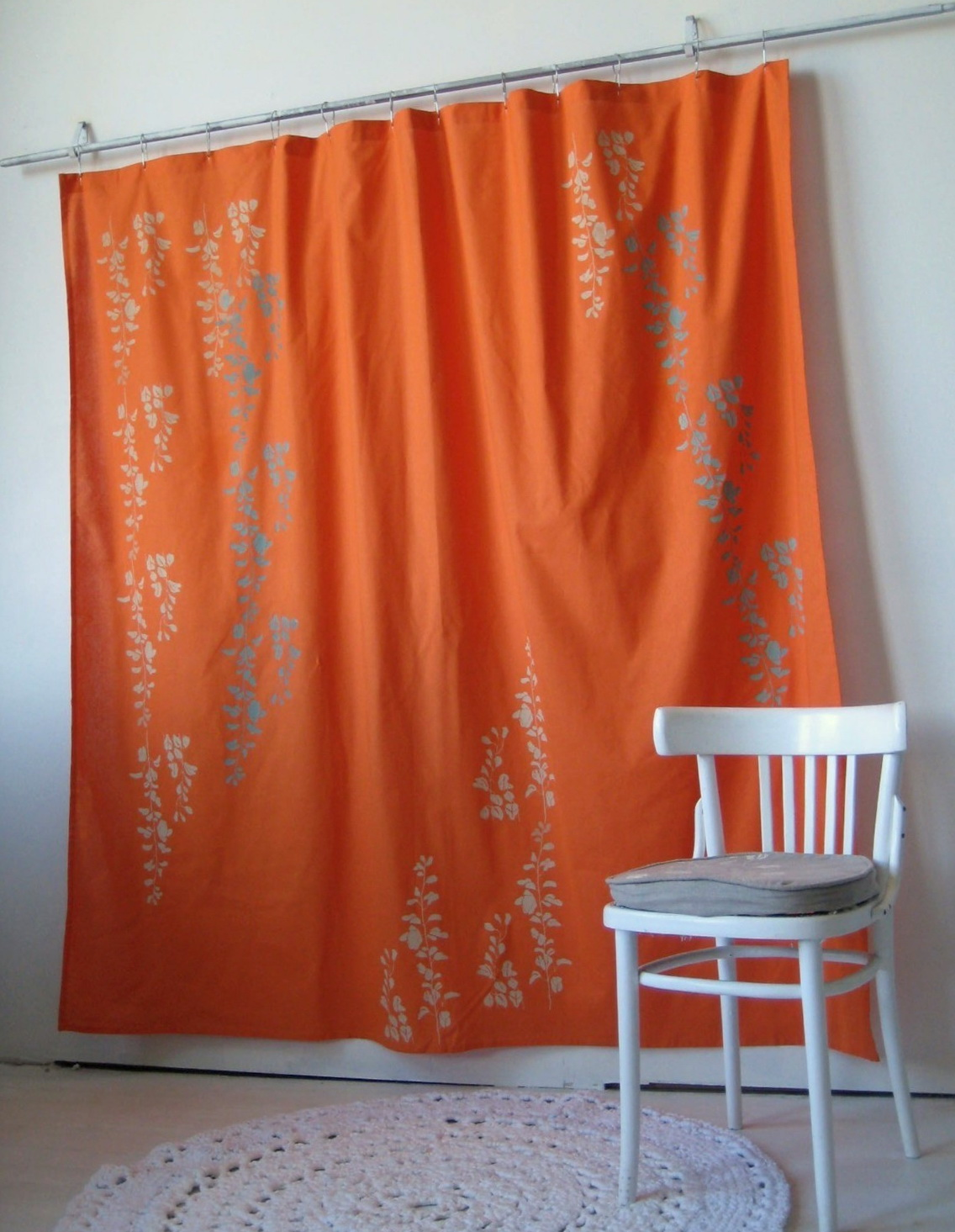 Grey And Orange Patterned Curtains Home Design Ideas