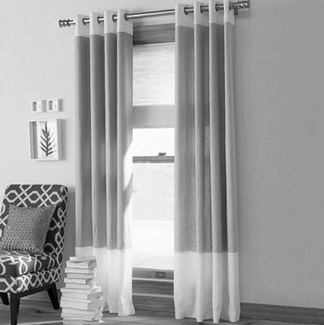 Grey Patterned Curtains Modern