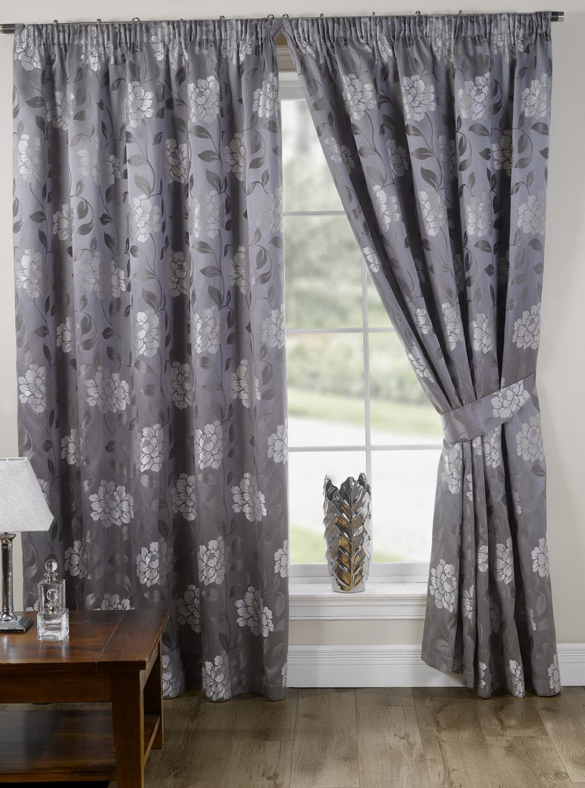 Grey Patterned Curtains Uk