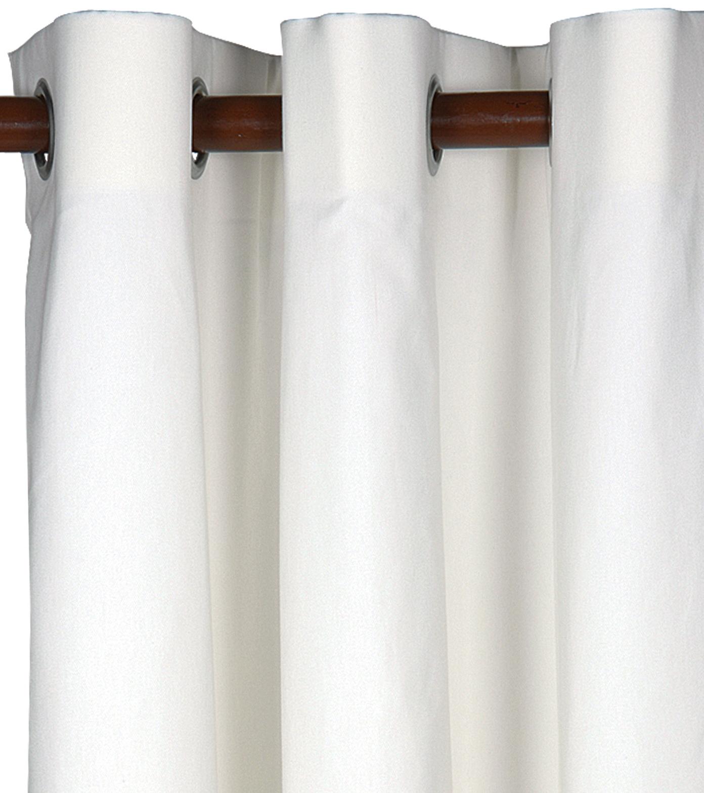 Grommet Blackout Curtains White