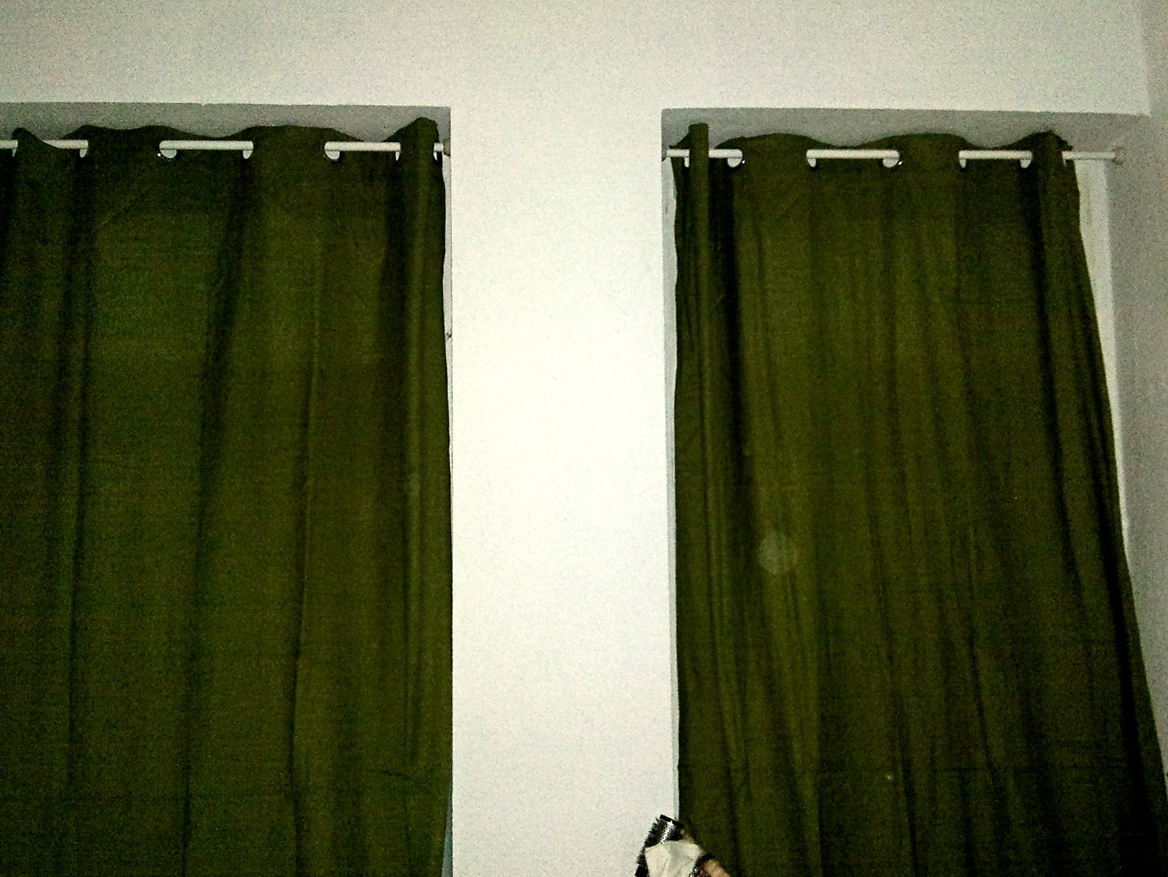 How To Hang Curtains From Ceiling Without Drilling Home