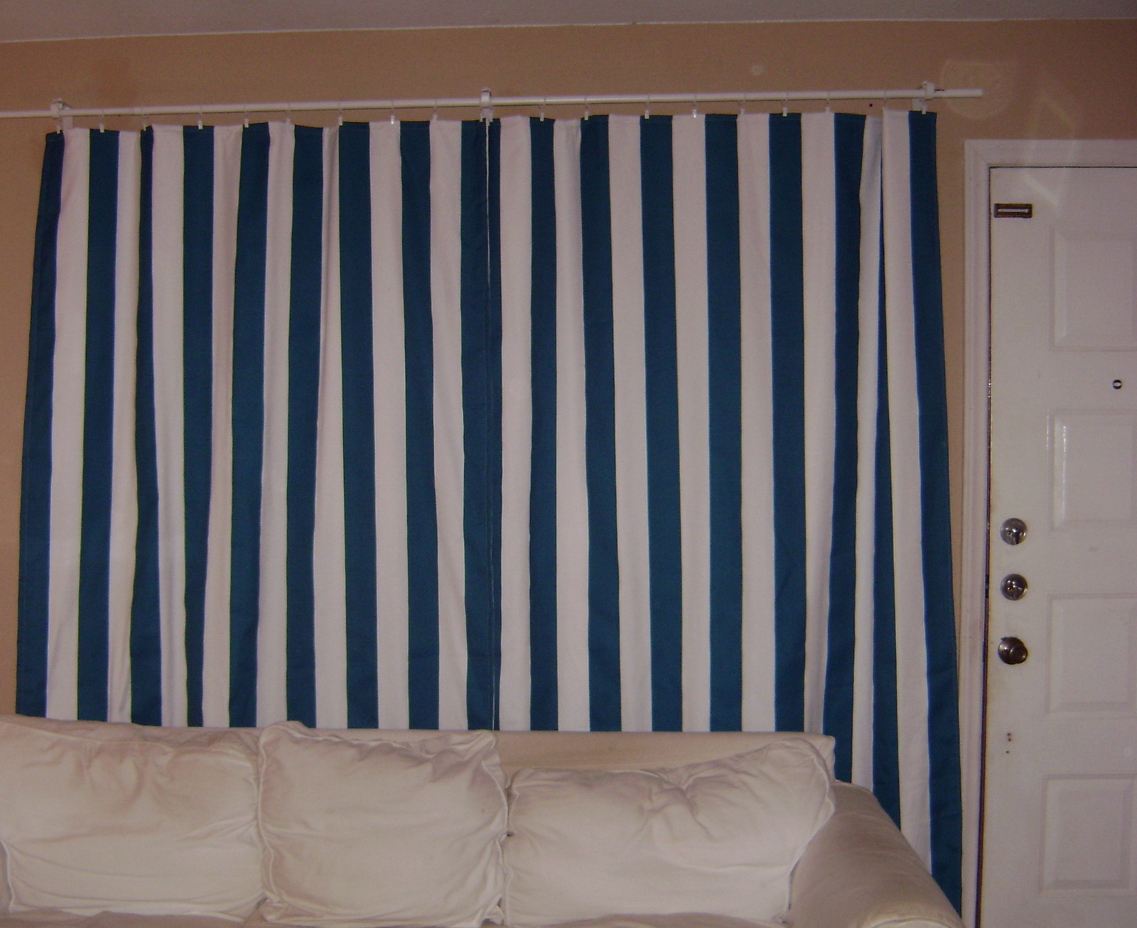 Ikea Blue And White Curtains