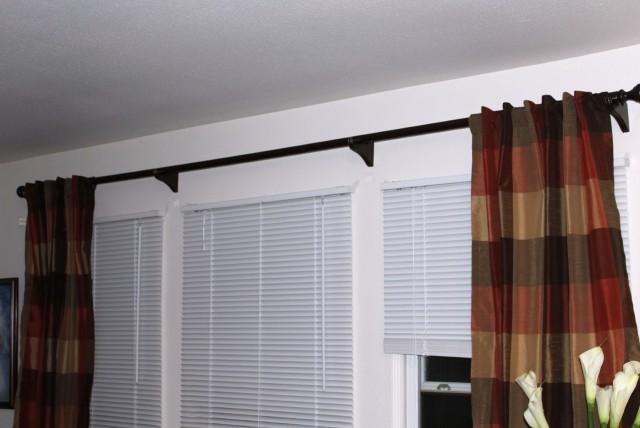 Inside Mount Curtain Rod Home Depot