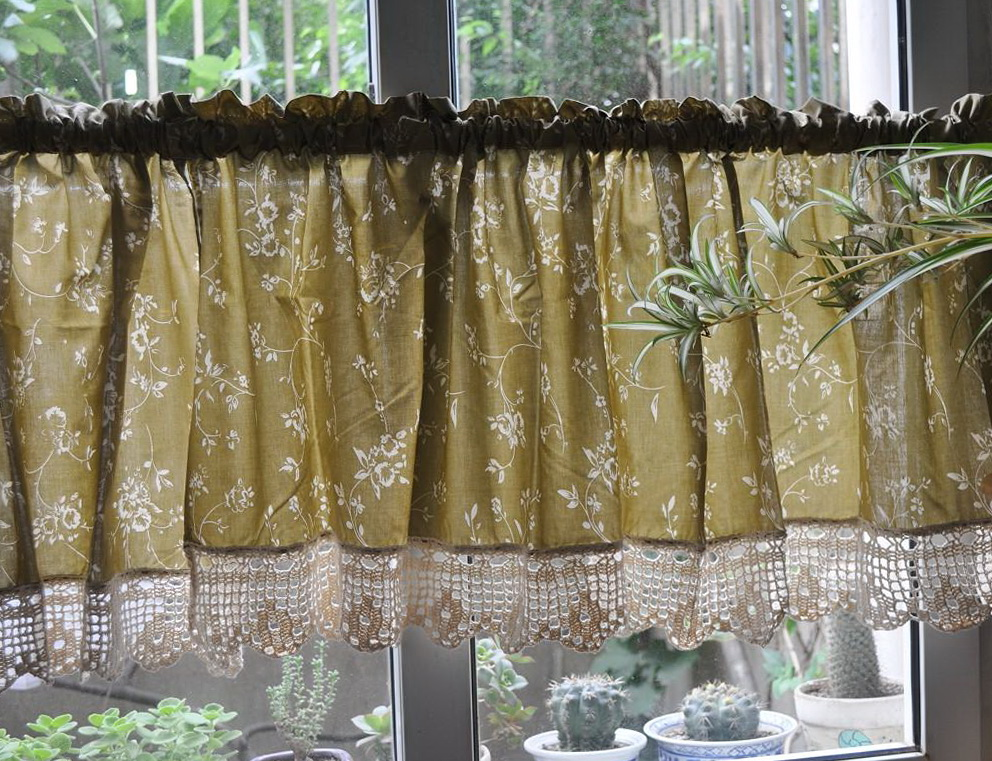 Kitchen Cafe Curtains Valance Home Design Ideas