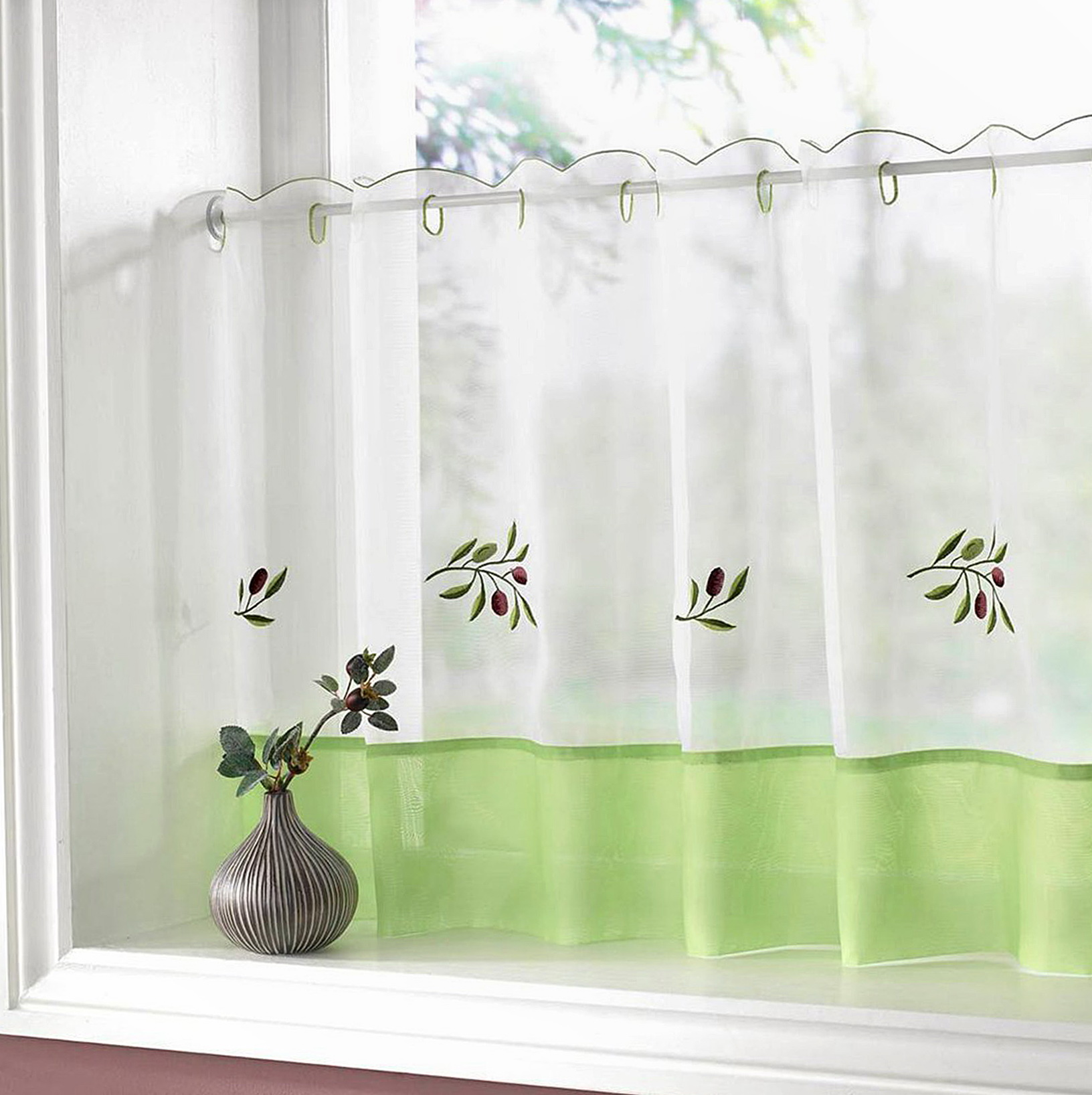 Kitchen Window Cafe Curtains