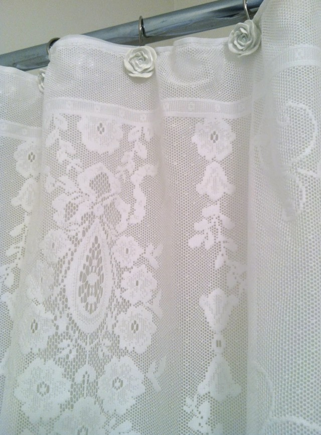 Lace Shower Curtain Fabric