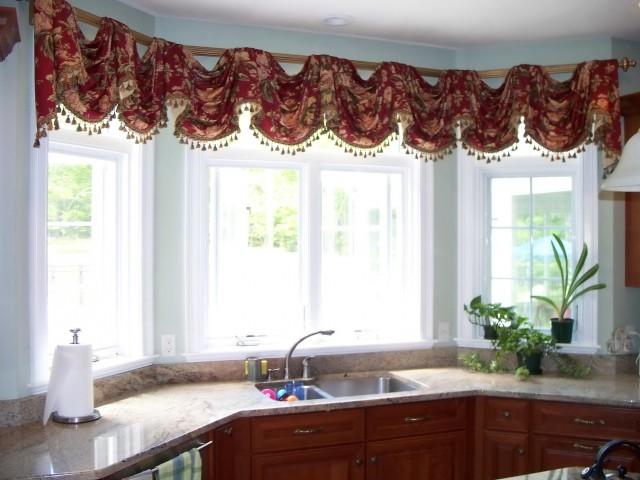 Large Kitchen Window Curtains