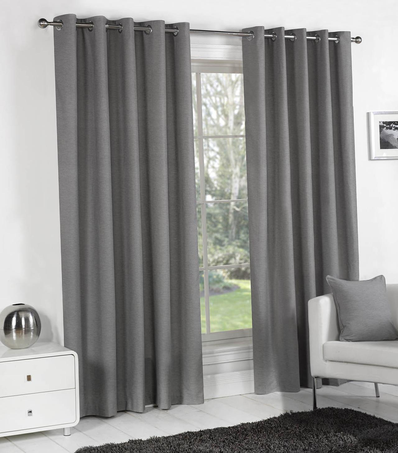 Light Grey Eyelet Curtains